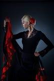 härlig dansareflamenco Fotografering för Bildbyråer