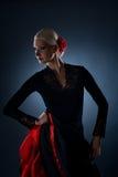 härlig dansareflamenco Arkivbild