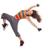 härlig dansarekvinna Arkivbild
