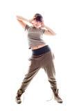 härlig dansflicka Fotografering för Bildbyråer
