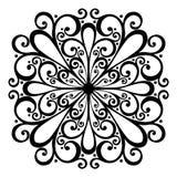 Härlig Deco fyrkant (vektorn) royaltyfri illustrationer
