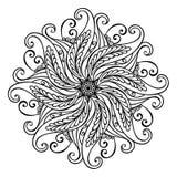 Härlig Deco Mandala (vektorn) Arkivbild