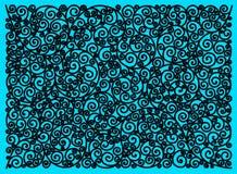 Härlig dekorativ modell på blå bakgrund stock illustrationer
