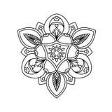 Härlig dekorativ pionblomma Gammal tatuering Royaltyfria Bilder