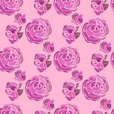 Härlig dekorativ ram med blomman Bakgrund med blommor och rosor seamless modell Royaltyfria Foton