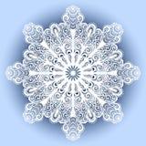 Härlig dekorativ snöflinga Arkivbild