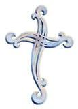Härlig design för kristenkorsprydnad Arkivbild