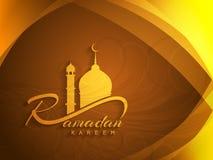 Härlig design för ramadan kareembakgrund Arkivbild