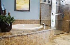 härlig designinterior för badrum Royaltyfria Foton