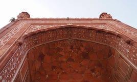 Härlig detalj av den Badshahi moskén i Lahore, Pakistan Arkivbilder