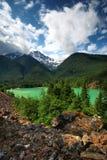 härlig diablo lake Fotografering för Bildbyråer