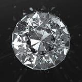 Härlig diamant med caustic Royaltyfria Bilder