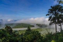 Härlig dimma i söder av Thailand Arkivbild