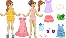 Härlig docka som klär upp royaltyfri illustrationer