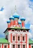 Härlig domkyrka i Uglich, Ryssland arkivfoton