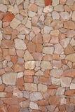Härlig dry-stone stenvägg Arkivfoton