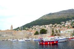 Härlig Dubrovnik gammal stad Arkivbilder
