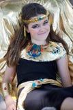 Härlig egyptisk flicka Arkivbilder