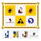 Härlig egyptisk logo och symboler Egyptier-stil ram royaltyfri illustrationer
