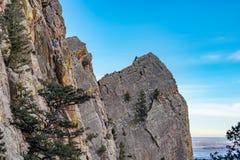 Härlig eldoradokanjondelstatspark Colorado arkivfoton