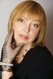 härlig elegant kvinna Fotografering för Bildbyråer