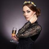 Härlig elegant Lady Royaltyfria Foton