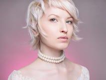 Härlig elegant Lady Fotografering för Bildbyråer