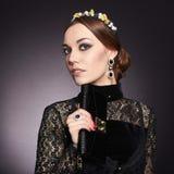 Härlig elegant Lady 15 woman young Royaltyfri Fotografi