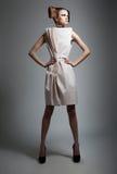 härlig elegant stil för modefrisyrlady royaltyfri bild