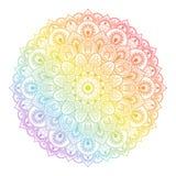 Härlig etnisk mandala med en blom- modell Royaltyfri Fotografi