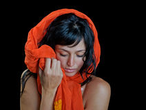 härlig etnisk ståendekvinna Fotografering för Bildbyråer