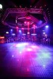 Härlig europeisk nattklubbinre Royaltyfria Bilder