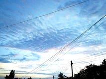 Härlig färgglad himmel arkivbilder