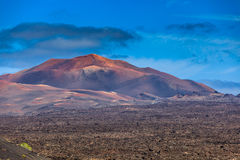 Härlig färgläggninglek på en av många volcanoes Fotografering för Bildbyråer