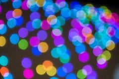 Härlig färgrik bakgrund med bokeh arkivfoto