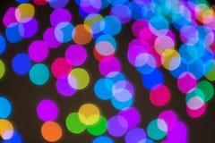 Härlig färgrik bakgrund med bokeh arkivfoton