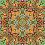 Härlig färgrik design för textiltryckhalsduk Royaltyfri Fotografi