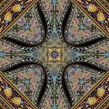 Härlig färgrik design för textiltryckhalsduk Arkivfoto