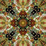 Härlig färgrik design för textiltryckhalsduk Royaltyfri Bild