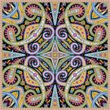 Härlig färgrik design för textiltryckhalsduk Royaltyfria Foton