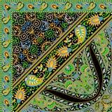 Härlig färgrik design för textiltryckhalsduk Fotografering för Bildbyråer