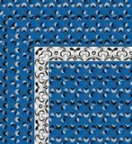 Härlig färgrik design för textiltryckhalsduk Arkivfoton