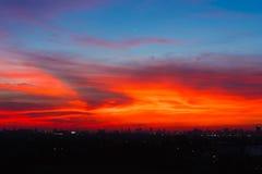 Härlig färgrik himmel. Royaltyfri Fotografi