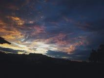 Härlig färgrik himmel Arkivfoton