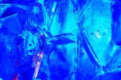 Härlig färgrik isstruktur Arkivbilder