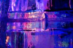 Härlig färgrik isstruktur Royaltyfri Fotografi