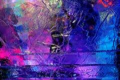 Härlig färgrik isstruktur Royaltyfri Foto