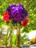 Härlig färgrik sommarbukett Royaltyfri Foto