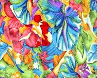 Härlig färgrik textiltryckdesign Royaltyfria Bilder