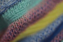 Härlig färgrik textur från textilen arkivbild
